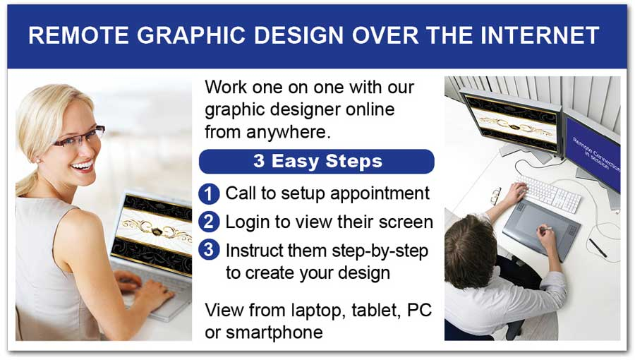 Real estate marketing graphic design completed remotely via the web