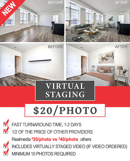 Real Estate Virtual Staging Toronto, Mississauga, Brampton, Vaughan, Richmond Hill